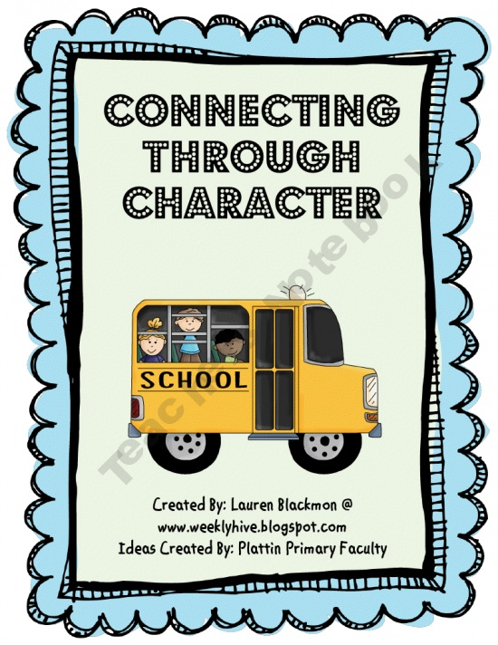 FREE 15 pages - This unit included 6 activities that have a character education theme for every onther month.