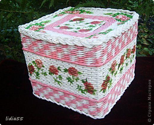 Producto de el clase Maestría Artesanal Weaving kopilochku Papel Prensa paja de Papel 1 foto