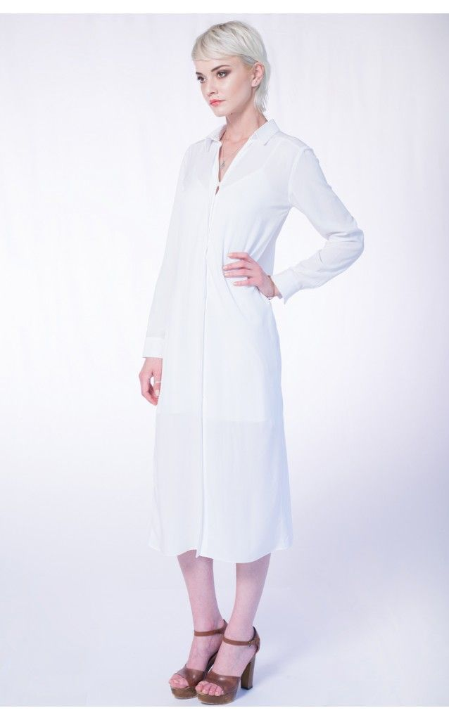 Rochie-camasa alba