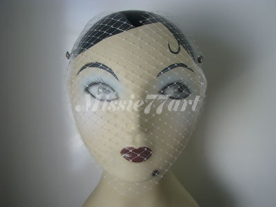 Vintage Inspired Movie Goddess Ivory Heart shaped Veil with Diamantes $49.95
