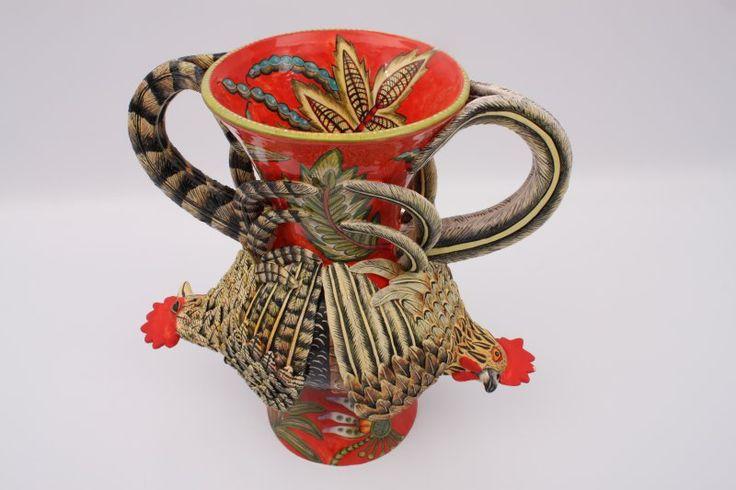Ardmore Rooster Vase