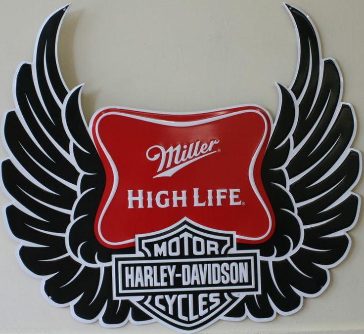 Miller High Life Harley Davidson Leather Jacket