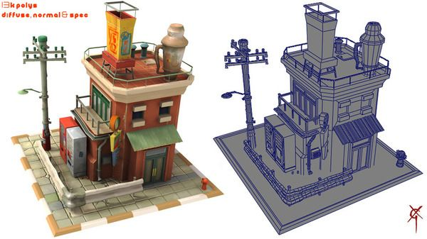 Tekkon Kinkreet City Block, Textured by Xavi - Xavier Garcia - CGHUB