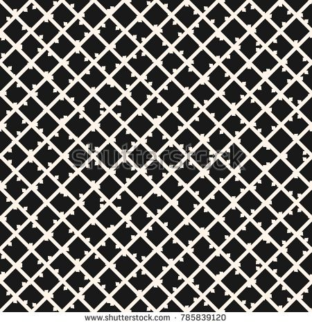 Square grid vector seamless pattern. Abstract geometric monochrome texture with thin diagonal cross lines, rhombuses, mesh, lattice, grill, wire. Subtle simple checkered background. Dark repeat design