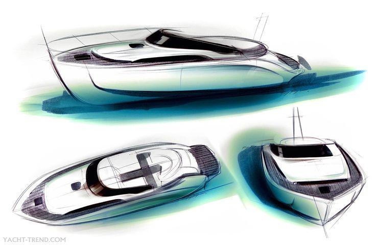 boat design sketches - Google Search