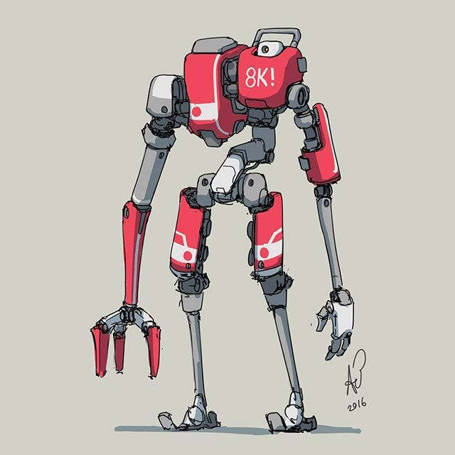 20 2016 tester of skills... Of standing...   But seriously folks, what the hell is with all these new people showing up and following?! Thanks so much for supporting my work! Thankyou thankyou thankyou thankyou!  #mech #mecha #robot #sketch  #quicksketch