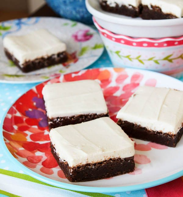 Fudgy Nutella Brownies with Cream Cheese Frosting. The richest, moistest, most decadent brownies ever.  And I'm super picky about brownies!
