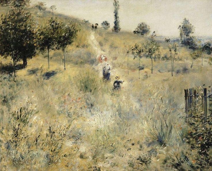 "Pierre-Auguste Renoir (1841-1919) - ""Chemin montant dans les hautes herbes"" - Huile sur toile - http://www.musee-orsay.fr/es/colecciones/catalogo-de-obras/notice.html?no_cache=1&zoom=1&tx_damzoom_pi1[zoom]=0&tx_damzoom_pi1[xmlId]=001095&tx_damzoom_pi1[back]=%2Fes%2Fcolecciones%2Fcatalogo-de-obras%2Fnotice.html%3Fno_cache%3D1%26zsz%3D5%26lnum%3D%26nnumid%3D1095"