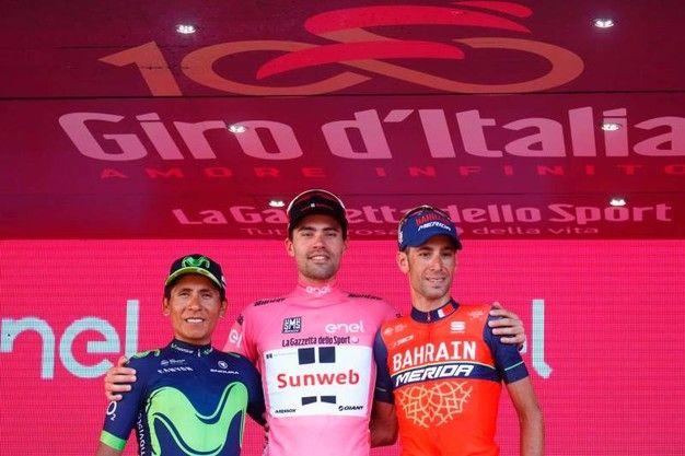Giro d'Italia 2017, il podio
