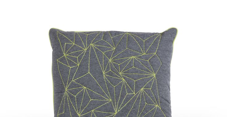 Apex Embroidered Cushion 45 x 45cm, Lime