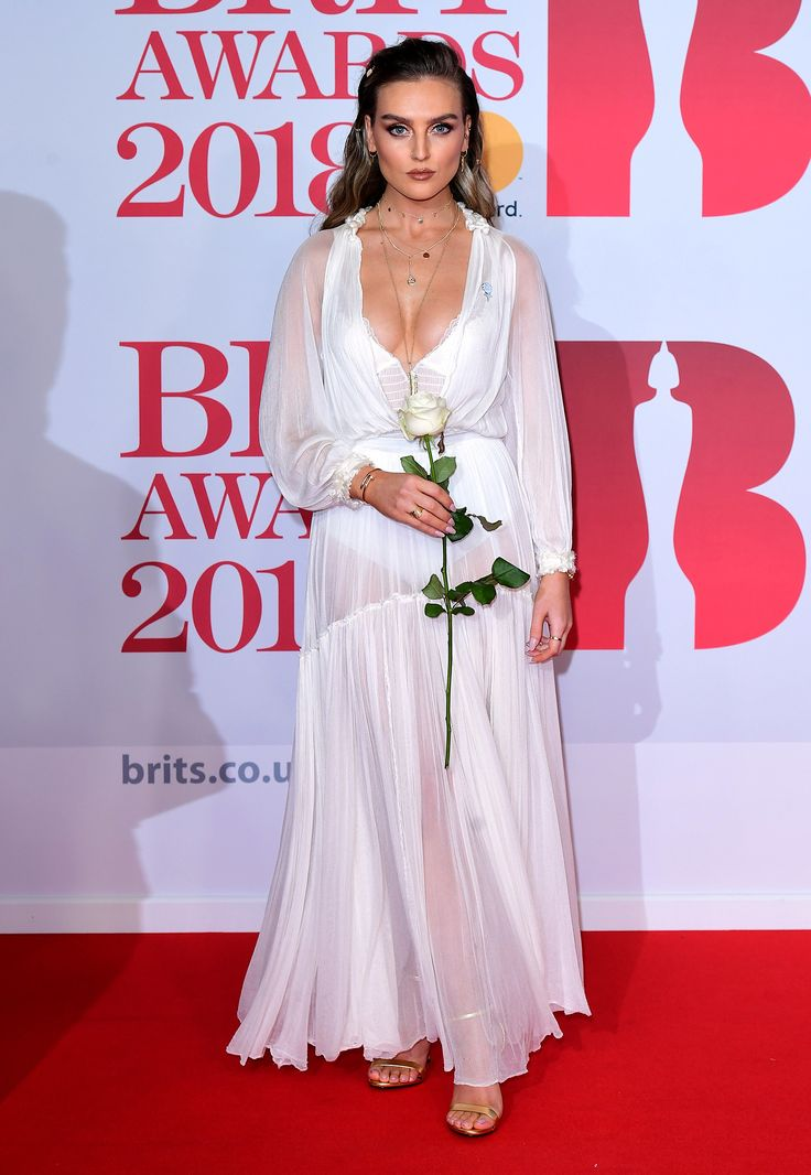 Perrie Edwards / Little Mix - Styled by Holly Ounstead BRIT Awards 2018