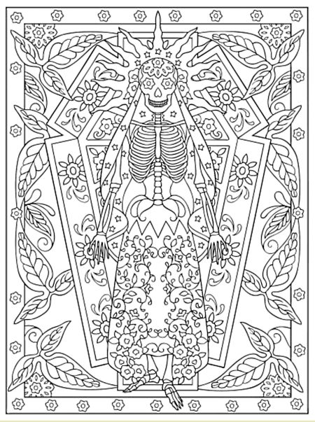 31 b sta bilderna om m b f v d dskallar p pinterest behance day of the dead girl coloring pages day of the dead girl coloring pages - Dover Publications Free Coloring Pages