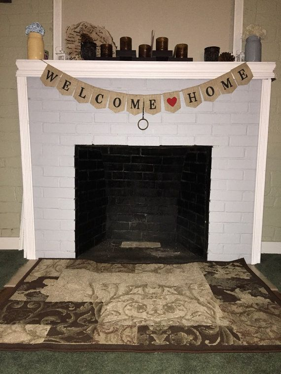 #Welcome #Home #Burlap #Banner Welcome Home #Decor by LivingLifeCrafty #homecoming #military