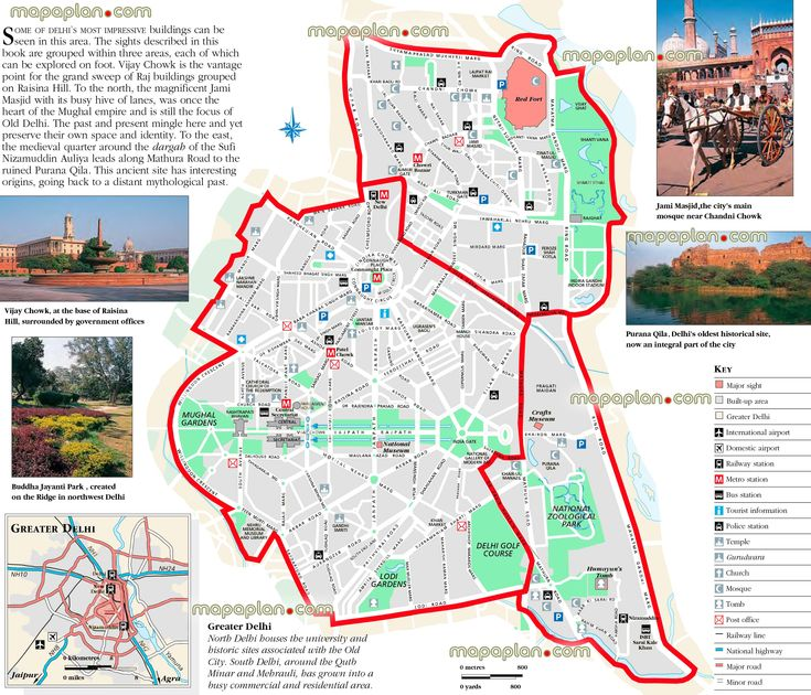 1000 images about Delhi India printable map of top tourist – India Tourist Attractions Map