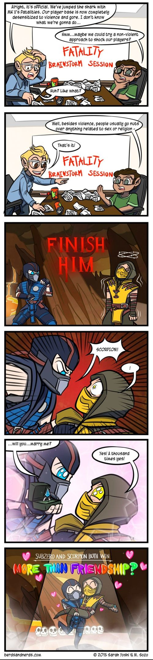 Mortal Kombat's Future Fatalities. Its so anime its making me laugh so hard
