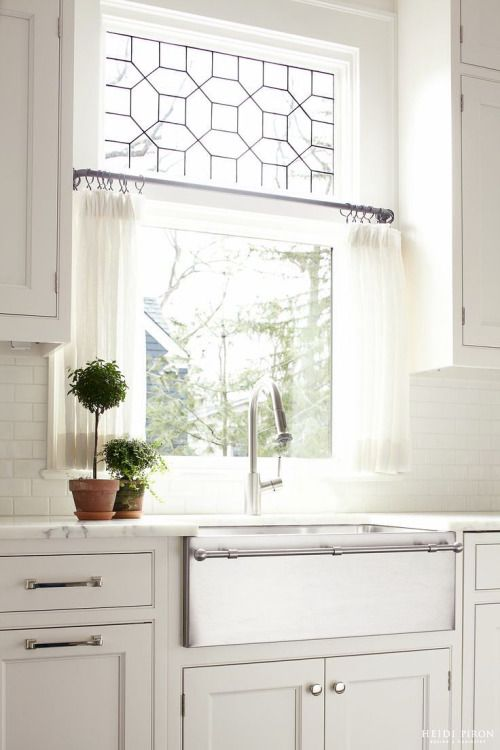 Best 25 kitchen window curtains ideas on pinterest for House plans with kitchen sink window