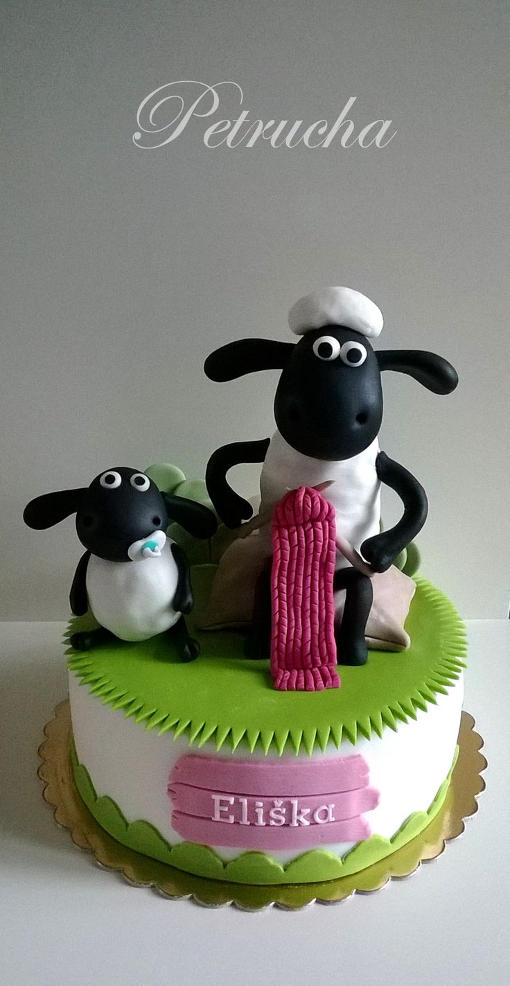 Timmy and Shaun sheep cake