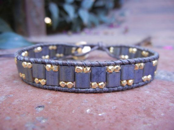 Wrap bracelet with Miyuki Tila beads and by UnderWrapsBoutique, $45.00
