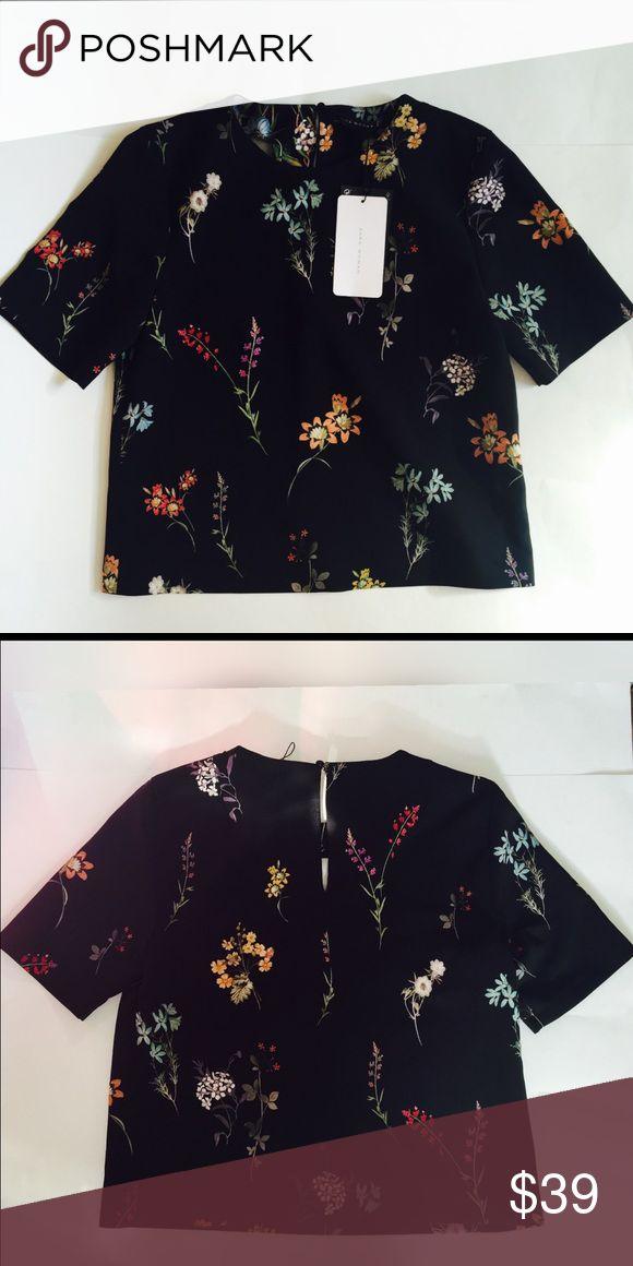 Zara Floral top Zara Tops Blouses
