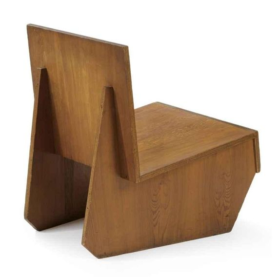 Frank Lloyd Wright; Plywood Chair from the Auldbrass Plantation, c1940.
