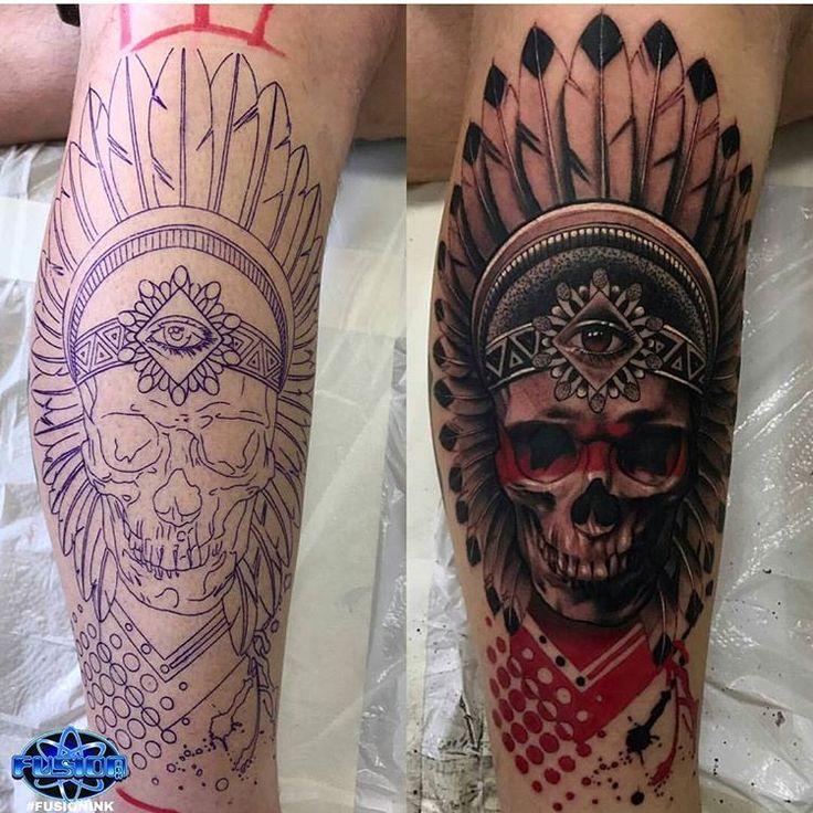 """fusion_ink ™ sur Instagram: """"Un travail incroyable d'Arlie Johnson utilisant #FUSIONINK …   – Tattoos"""