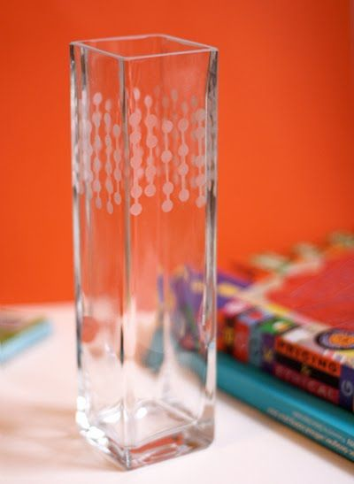 DIY :: Glass Etching with a punched pattern   How About Orange