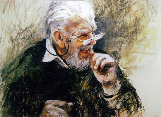"""MY TEACHER"" - 22x27 - Pastel by Jane Romanishko"