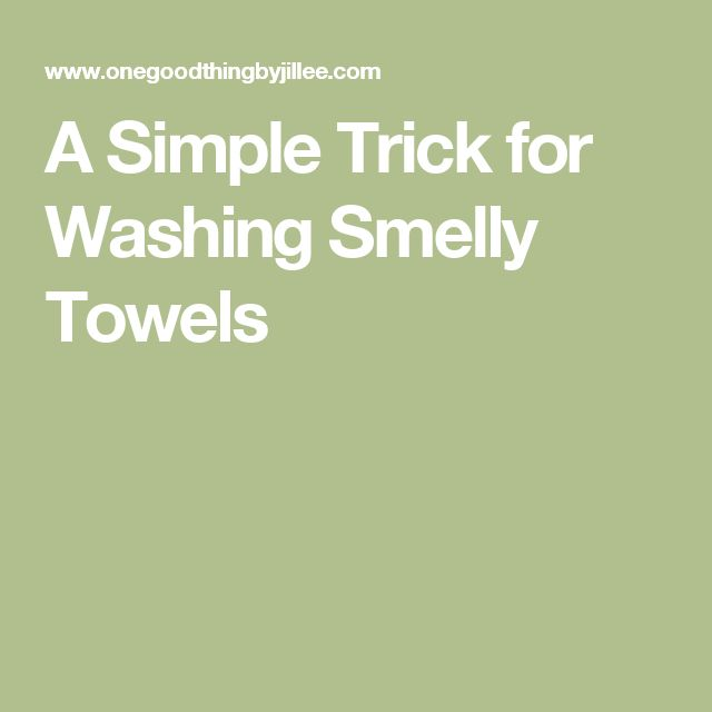 A Simple Trick for Washing Smelly Towels