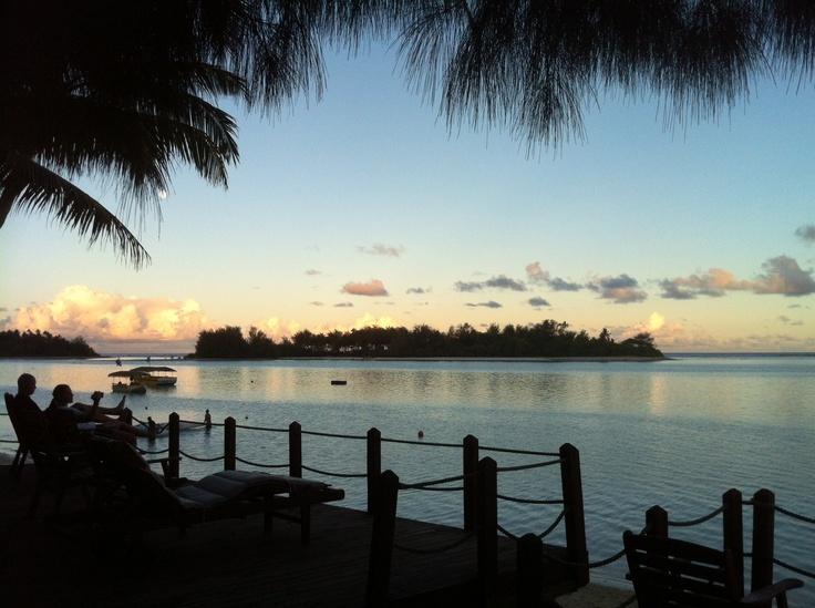 Muri Beachcomber Deck overlooking Muri Lagoon Rarotonga