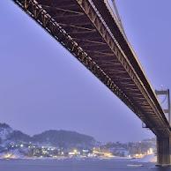 Varodd bridge a snowy morning