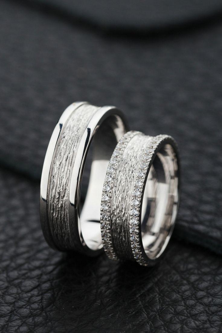 Unique Wedding Bands With Textured Surface Wedding Weddingideas