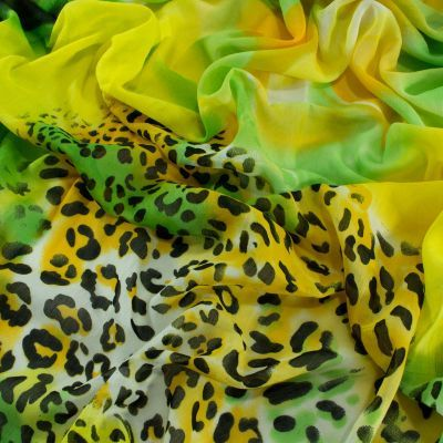 Tiger Print Cotton Scarf - Green Yellow Buy @ http://www.pashmeen.com/15-shop-collection#/page-3