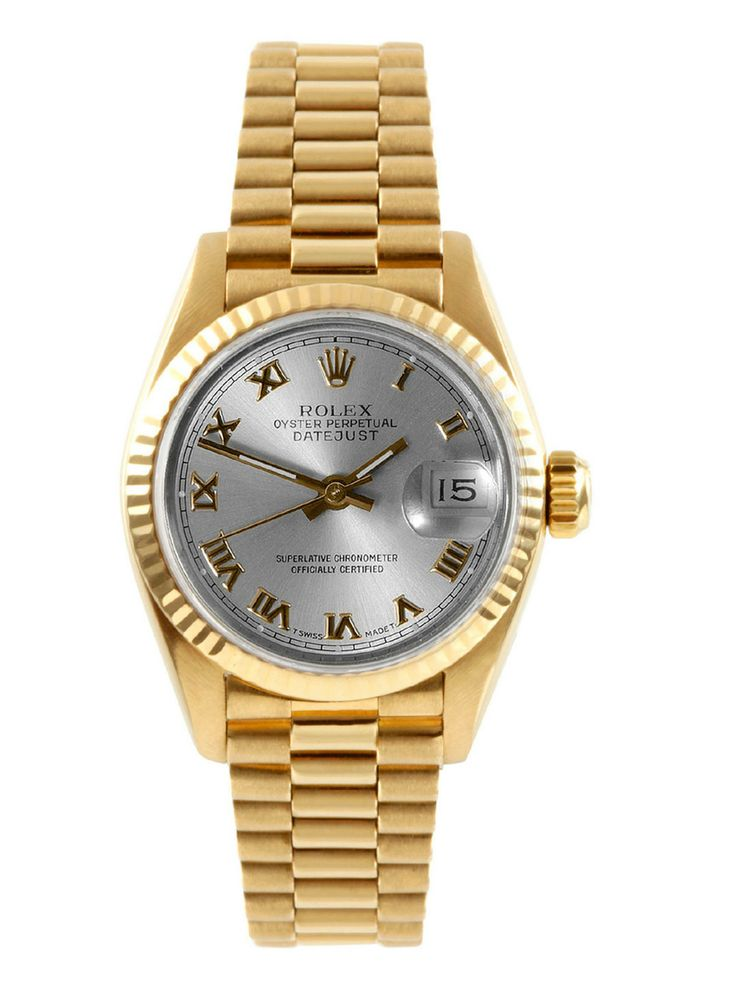 Rolex Presidential Oyster Perpetual Datejust Gold & Slate Watch, 26mm by Rolex at Gilt