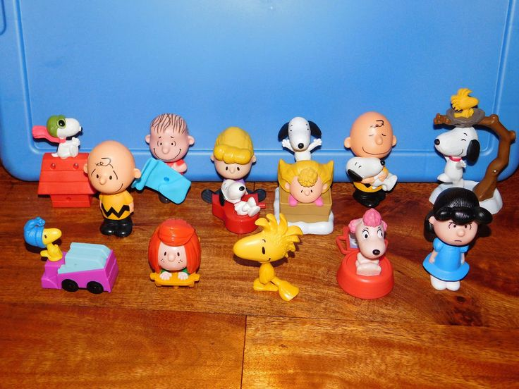 COMPLETE SET of 12 PEANUTS MOVIE McDonalds Toy Figures Happy Meal 2015    eBay