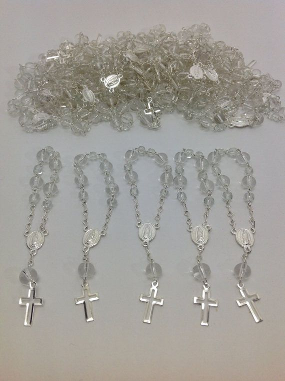 50 pcs Recuerditos Bautizo / Mini Rosary Baptism Favors 50 pcs on Etsy, $25.99