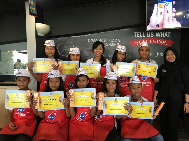 """Me and my future generation, learning """"How to make a pizza"""" at Dominos Pizza, yey. Congratulations we verified."""