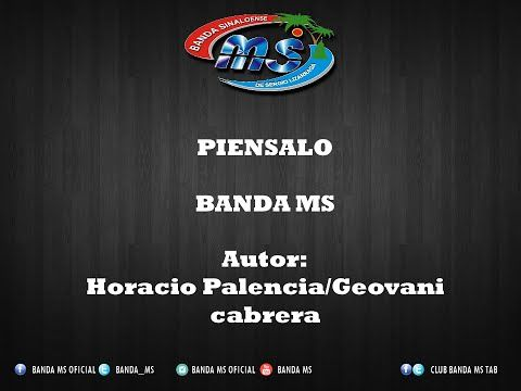 PIENSALO BANDA MS LETRA 2015 - YouTube