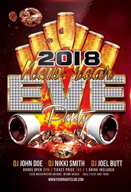 25+ unique Free flyer templates ideas on Pinterest Free flyer - new year brochure template
