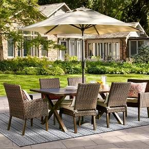 Halsted 7 Piece Wicker Patio Dining Set   Threshold™