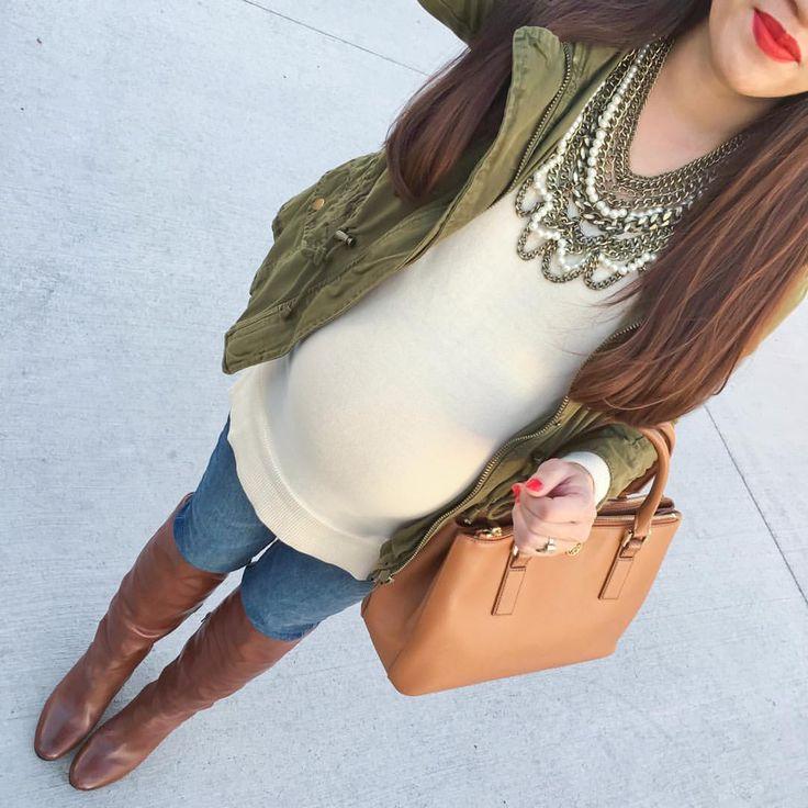 "Annie | Stylish Petite on Instagram: ""Hello #babybump   | www.liketk.it/21PZJ #LTKbump #pregnant #35weeks"""