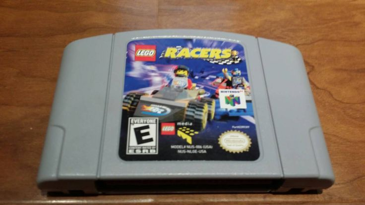 Lego racers Nintendo 64 system console game n64, Lego racers n64, legal racers video game, Nintendo 64 Lego racers, Lego video game - pinned by pin4etsy.com