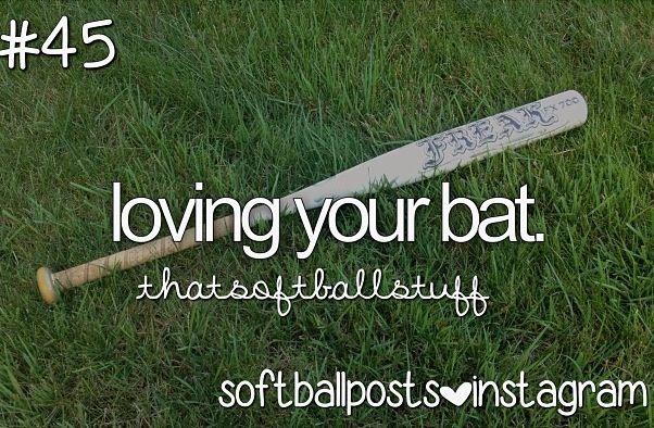 I actually love the bat I have I don't like using my friends bats! Haha