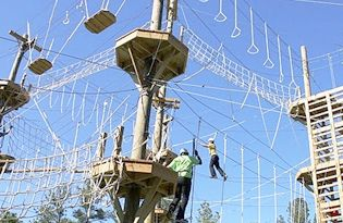 Bethesda Park in Durham - ropes course; $10 for non-residents; children ages 7 or older. Check open to the public drop ini dates 919-560-4355