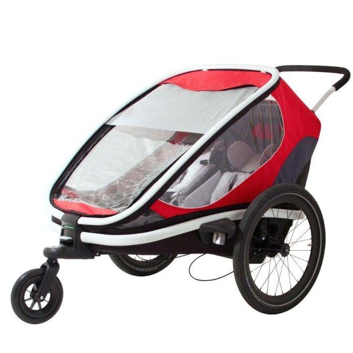 Bild på Hamax Outback Cykel och Barnvagn (Röd/Grå)