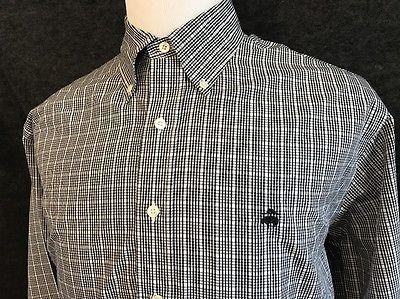 NWOT Brooks Brothers Golden Fleece Large 346  Black Check LS Tattersall Shirt  | eBay