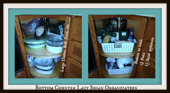 Lazy susan kitchen cabinet organization tips tricks on the cheap kitchen cabinet - How to organize a lazy susan cabinet ...