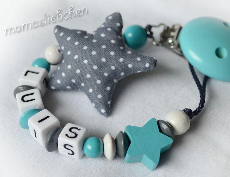 ♥ Schnullerkette Kleiner Stern ♥  Hier könnt ihr eine süße Schnullerkette erwerben, welche mit ganz viel Liebe und Sorgfalt von mir gefertigt wir...