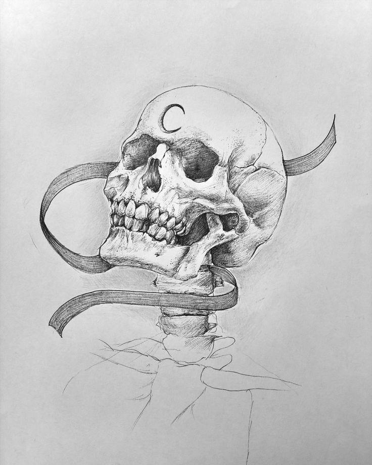 #skull #drawing