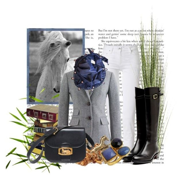 """Equestrian Set"" by tanialap ❤ liked on Polyvore featuring Roberto Cavalli, J.Crew, V.C. Accessories, Pier 1 Imports, Rupert Sanderson, NLY Accessories, Lola Rose and CÉLINE"