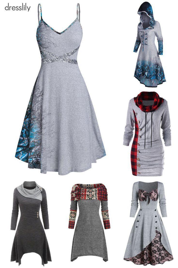 Dresslily Women Dresses Modest Casual Evening 1000 In 2020 Fashion Dresses Casual Cozy Dress Outfit Casual Dresses For Women